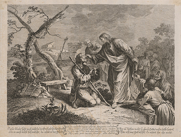 Johann Christoph Winkler – Ježiš lieči slepého