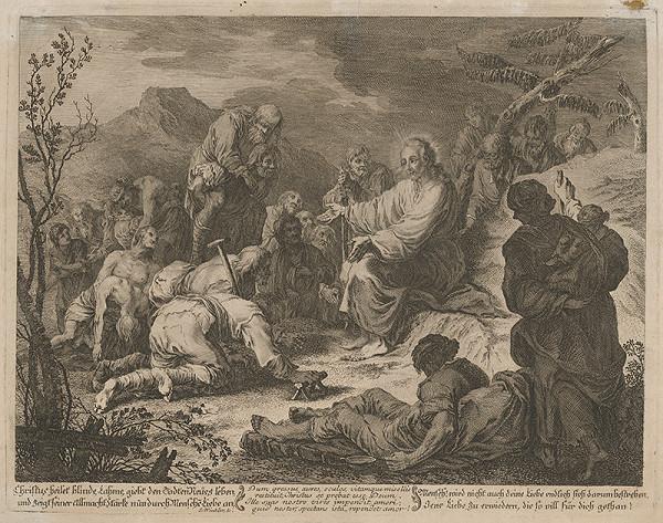 Johann Christoph Winkler - Ježiš lieči slepých a chromých