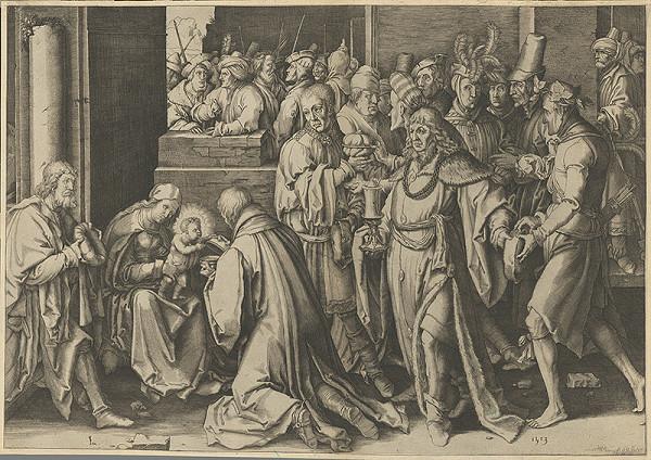 Lucas van Leyden - Klaňanie troch kráľov