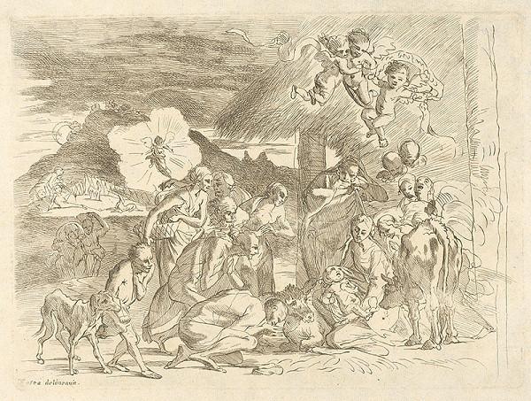 Pietro Testa – Klaňanie pastierov