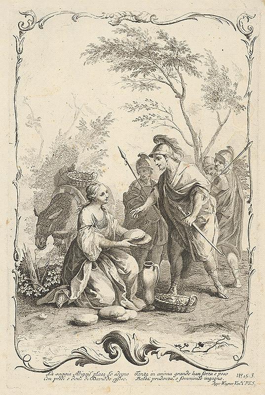 Joseph Wagner, Jacopo Amigoni - Dávid a Abigail