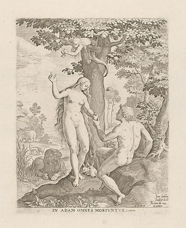 Jan Sadeler I., Maarten de Vos - Adam a Eva v raji