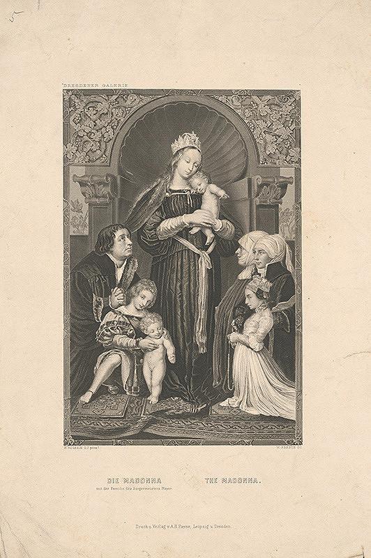 William French, Hans Holbein st., Albert Henry Payne – Madona so starostom Jakobom Meyerom zum Hasen a jeho rodinou