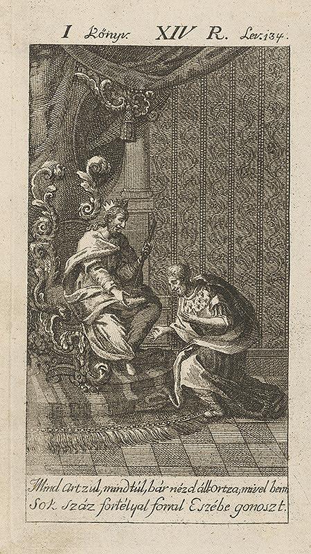 Maďarský grafik z 18. storočia – Prosiaci u kráľa