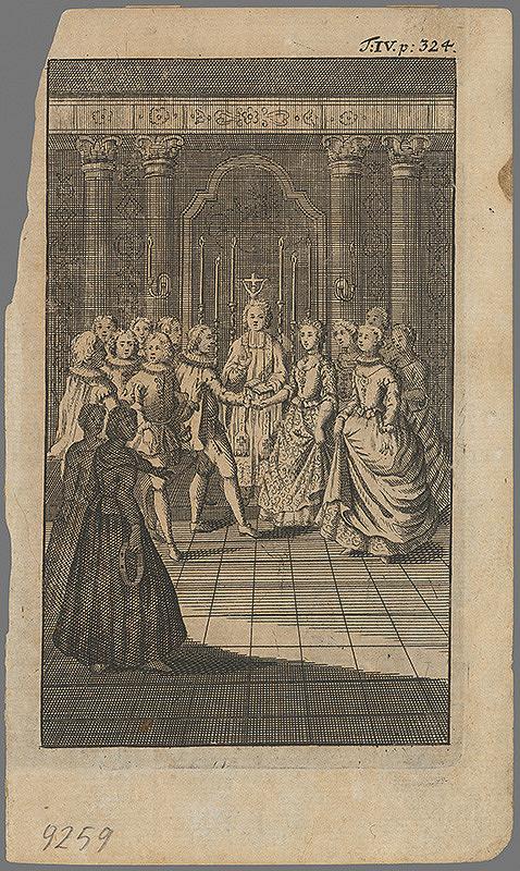 Stredoeurópsky grafik z 18. storočia – Sobáš