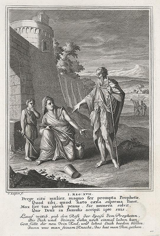 Caspar Luyken, Christoph Weigel – Eliáš v Sarepte