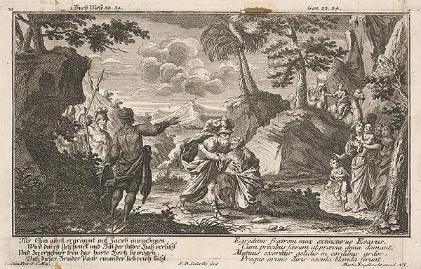 Balthasar Sigmund Setletzky, Martin Engelbrecht - Stretnutie Jákoba s Ezauom