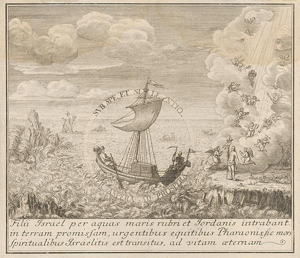 Stredoeurópsky grafik zo 17. storočia - Prechod Židov cez Červené more