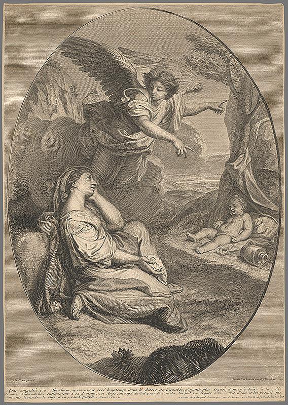 Charles le Brun – Agar s Abrahámom