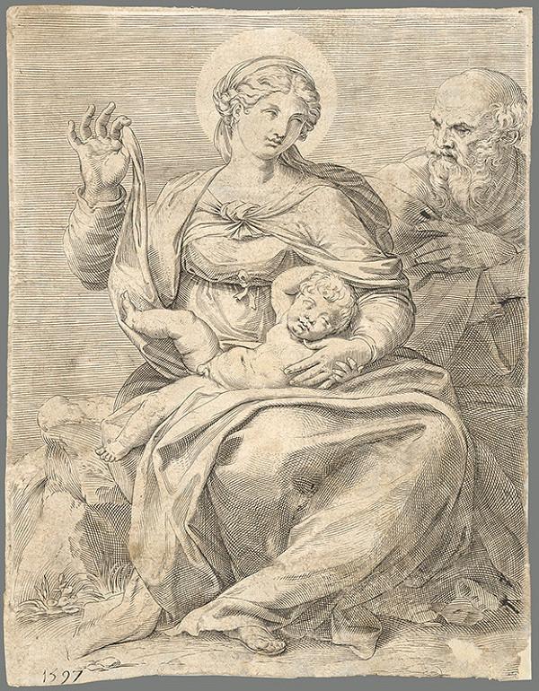 Agostino Carracci - Svätá rodina