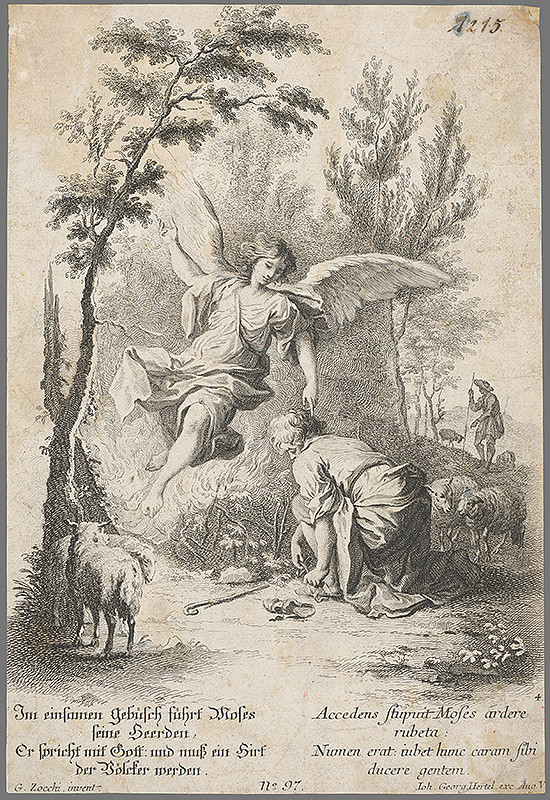 Giuseppe Zocchi, Johann Georg Hertel - Mojžiš so stádom
