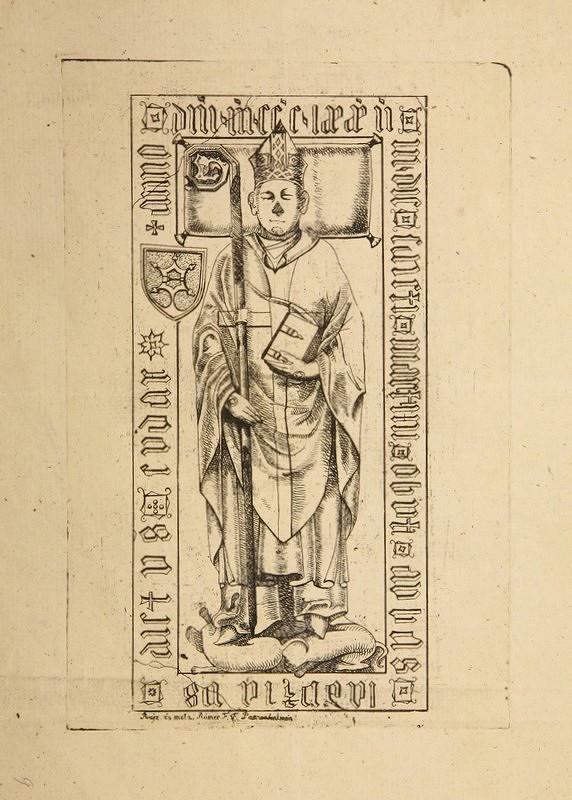 Flóris Ferenc Romer - Náhrobný kameň biskupa Ladislava Cudara