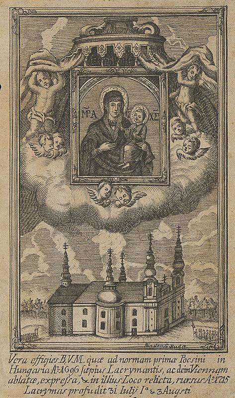 János Fülöp Binder – Milosrdný obraz Panny Márie z Máriapócsu (Matka Božia z Potschu)