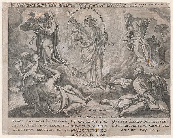 Jan Sadeler I., Maarten de Vos st. – Ježišovo premenenie