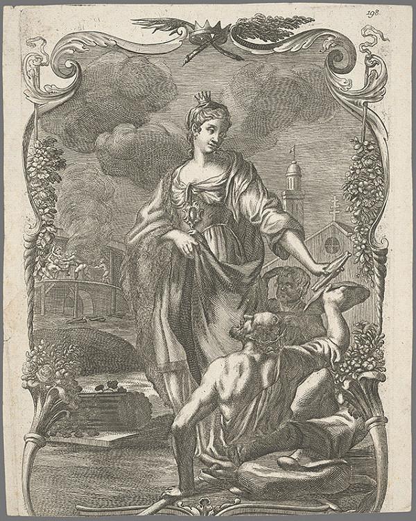 Stredoeurópsky grafik z prelomu 17. a začiatku 18. storočia – Svätá Alžbeta