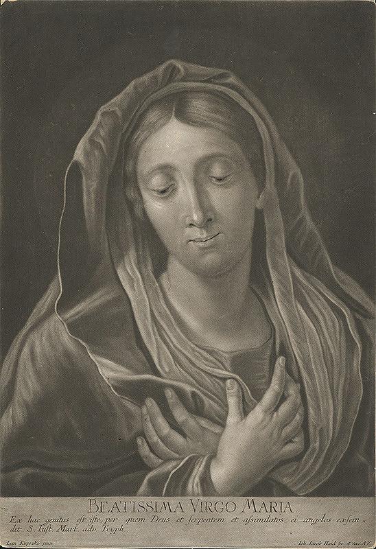 Ján Kupecký, Johann Jacob Haid – Madona (Panna Mária)