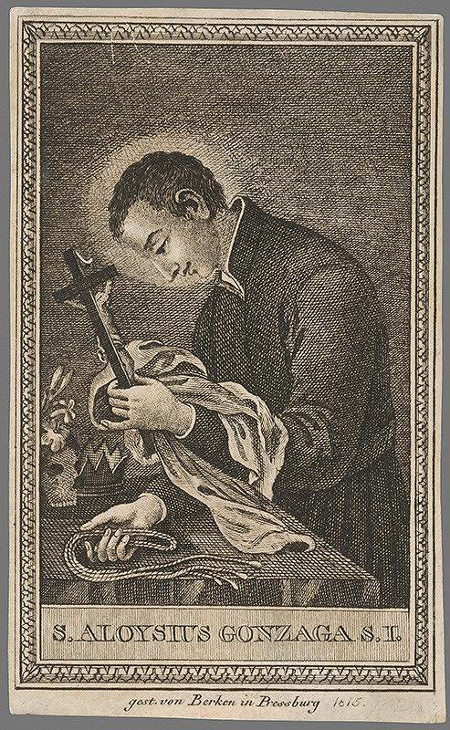 János Berken – Svätý Alojz Gonzaga