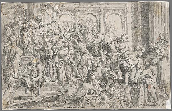 Annibale Carracci, Guido Reni – Svätý Rochus rozdáva almužnu