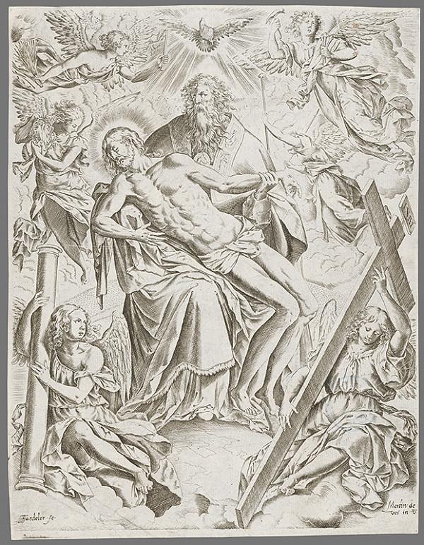 Maarten de Vos, Jan Sadeler I. – Svätá Trojica ako Stolica milosti