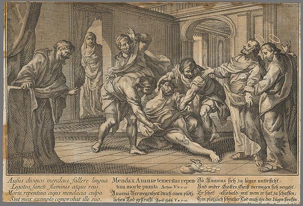 Nemecký grafik z 18. storočia – Ananias