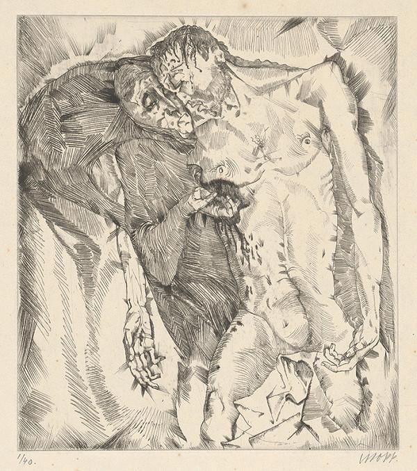 Stredoeurópsky grafik z 20. storočia – Kristus s Máriou