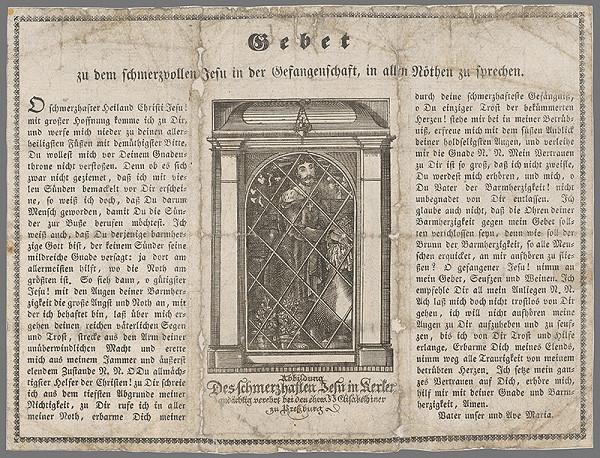 Nemecký grafik z 19. storočia – Motlitba k bolestiplnému