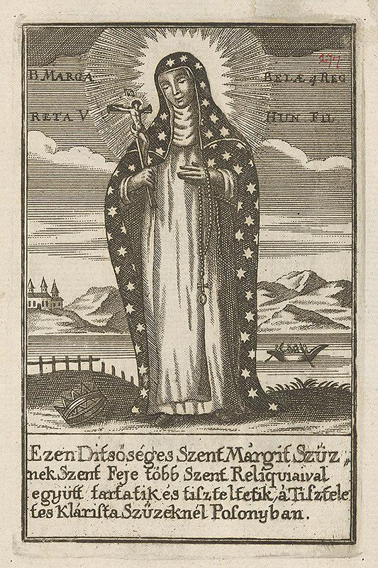 Maďarský grafik z 18. storočia – Svätá Margita Uhorská