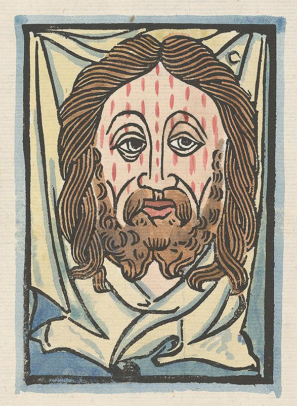 Stredoeurópsky grafik z 15. storočia - Šatka svätej Veroniky