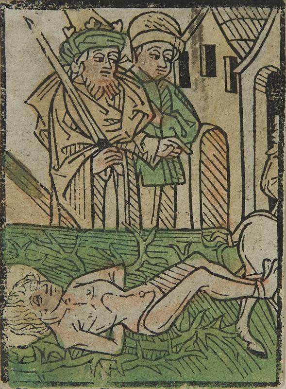 Stredoeurópsky grafik z 15. storočia – Výjavy zo života svätých (sv. Hippolytus)
