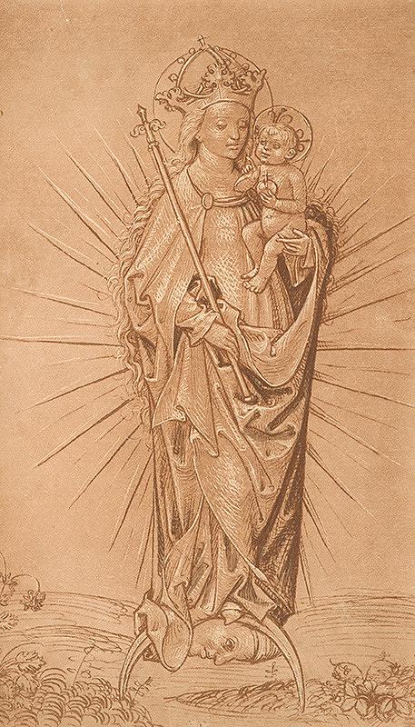 Stredoeurópsky grafik zo 16. storočia – Mária s dieťaťom