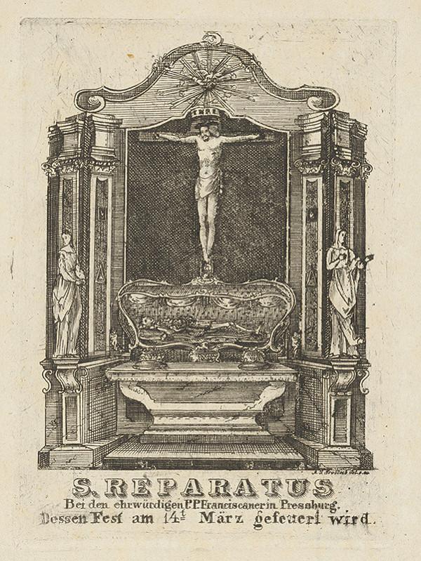 Nemecký grafik z 18. storočia – Pozostatky Sv. Reparatusa v Bratislave