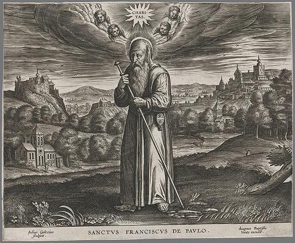 Julius Goltzius – Svätý František z Paolo
