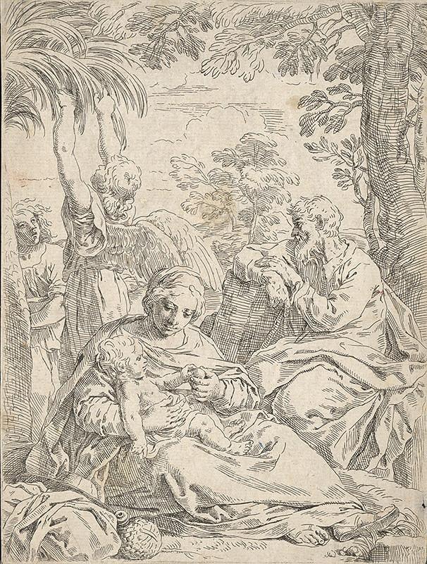 Simone Cantarini, Guido Reni – Odpočinok na úteku do Egypta, 1632–1648, Galéria mesta Bratislavy