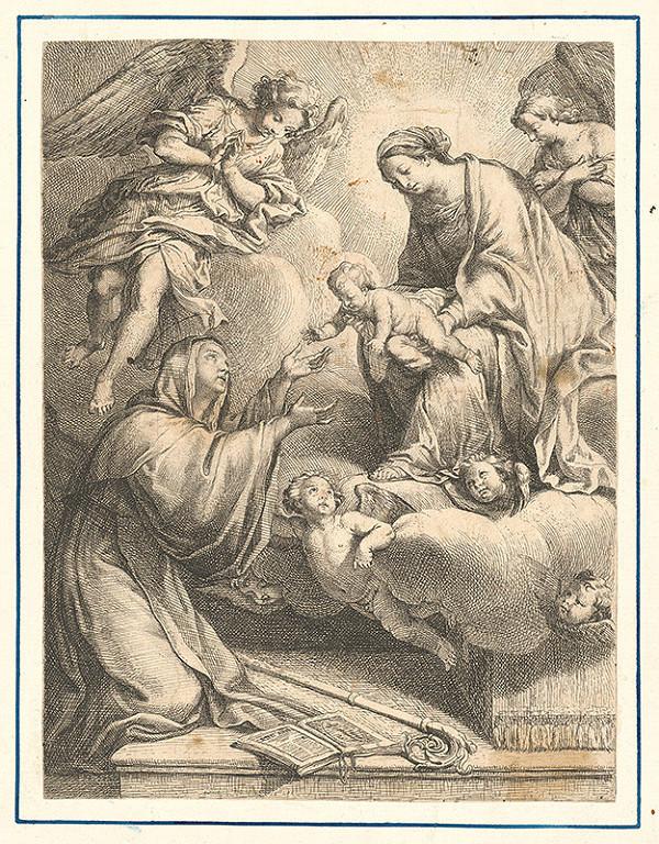 Stredoeurópsky grafik zo 17. storočia – Mária podáva Sv. Anne Ježiška