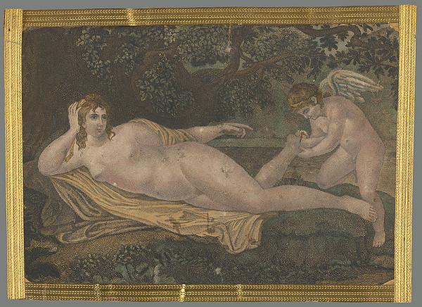 Stredoeurópsky grafik z 19. storočia – Venuša a Amor