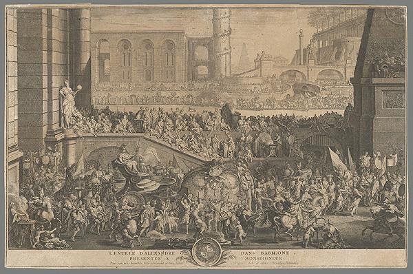 Sebastien Le Clerc st. – Príchod Alexandra do Babylonu