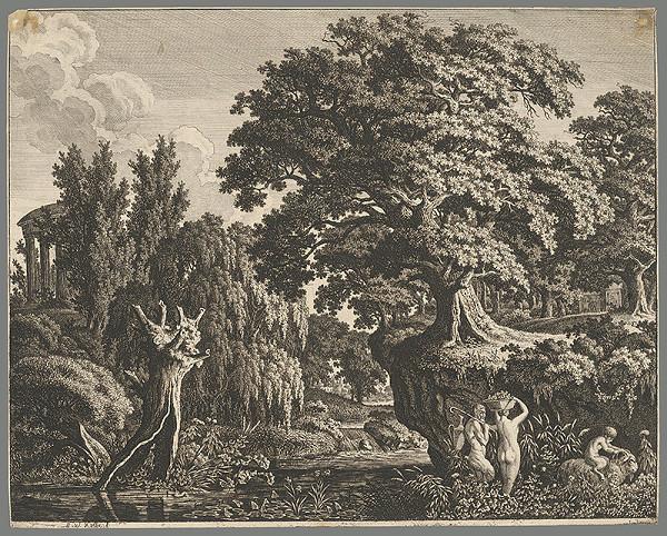 Carl Wilhelm Kolbe - Krajina s nymfou a satyrom