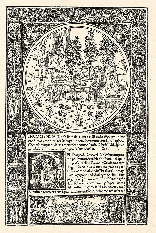 Stredoeurópsky grafik zo 16. storočia – Ilustrácia k listu