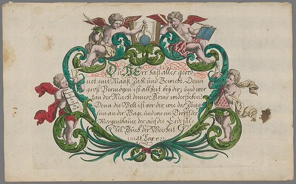 Stredoeurópsky grafik z 18. storočia – Text z knihy múdrosti