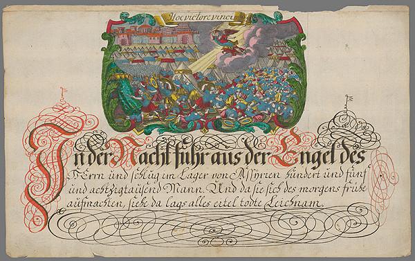 Stredoeurópsky grafik z 18. storočia - Výjav z tureckého tábora