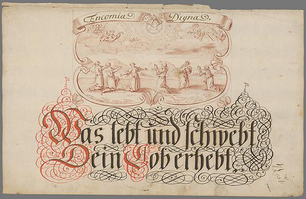 Stredoeurópsky grafik z 18. storočia – Náboženský výjav