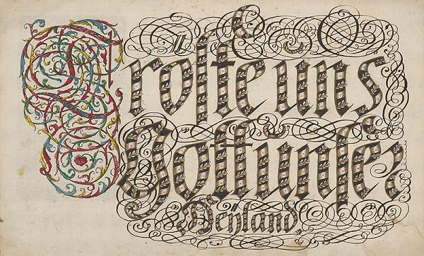 Stredoeurópsky grafik z 18. storočia - Gotický nápis
