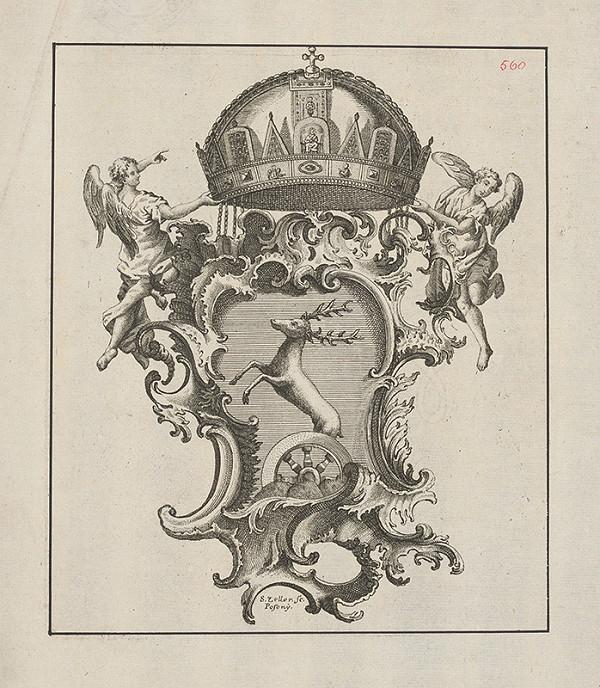 Sebastian Zeller – Erb rodiny Pálffyových s maďarskou korunou
