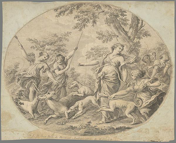 Stredoeurópsky grafik z 1. polovice 19. storočia – Diana na love