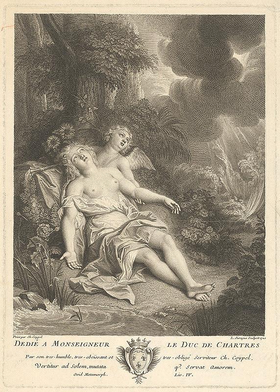 Charles-Antoine Coypel – Klýtia sa mení na slnečnicu