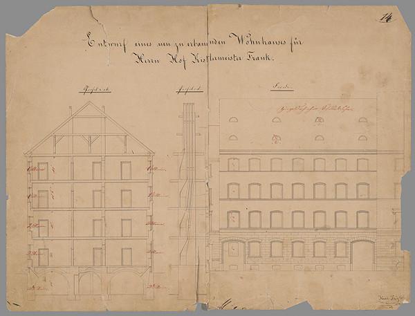 Karl Feigler - Plán fasády posch. domu