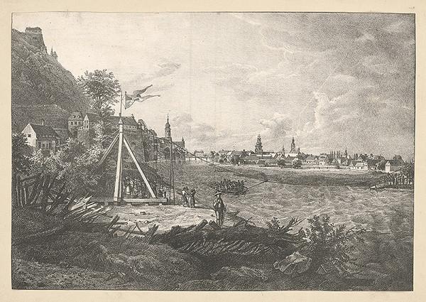 Stredoeurópsky grafik z 19. storočia - Pohľad na Štýrsky Hradec
