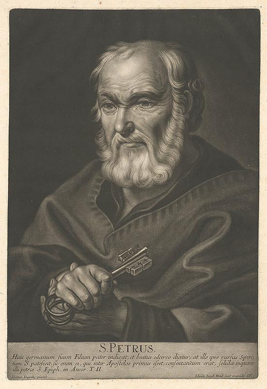 Johann Jacob Haid, Ján Kupecký – Sv. Peter