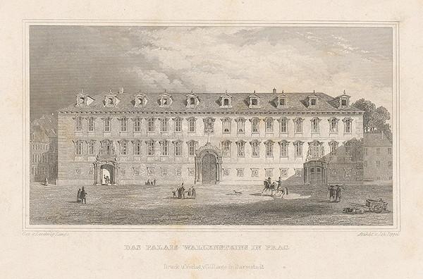 Ludwig Lange, Johann Gabriel Friedrich Poppel – Valštejnský palác v Prahe