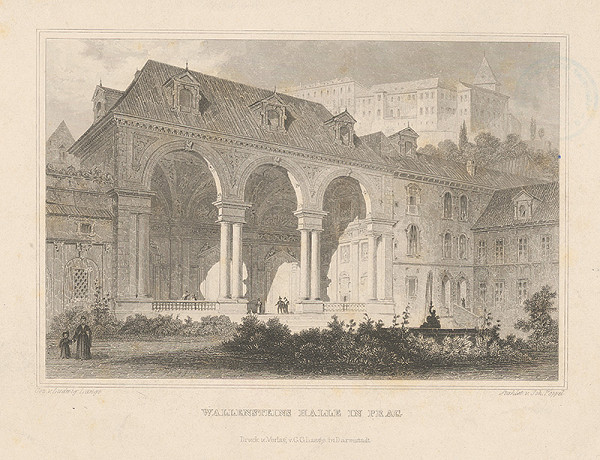 Ludwig Lange, Johann Gabriel Friedrich Poppel – Predsieň Valdštejnského paláca v Prahe